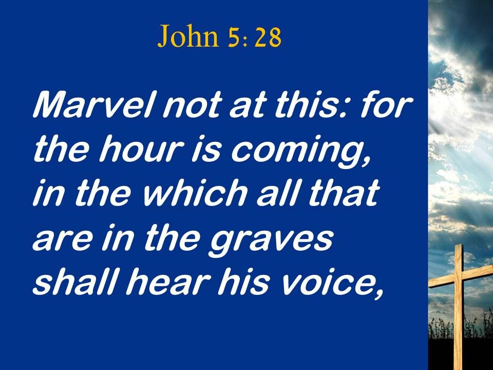 0514 John 528 Time is Coming Powerpoint Church Sermon | PowerPoint