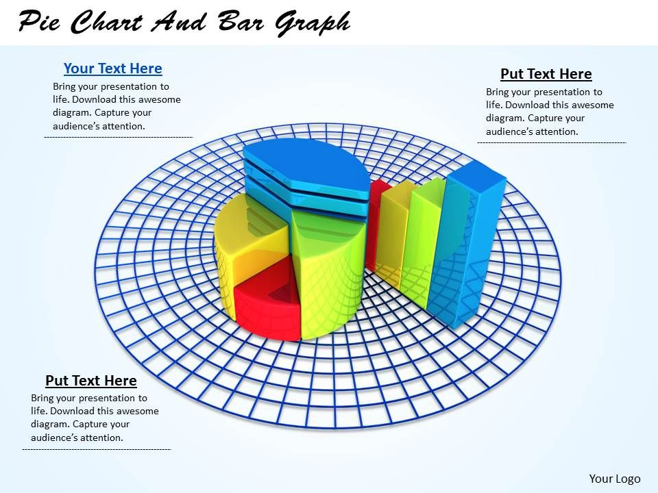 0514 Pie Chart And Bar Graph Image Graphics For Powerpoint ...