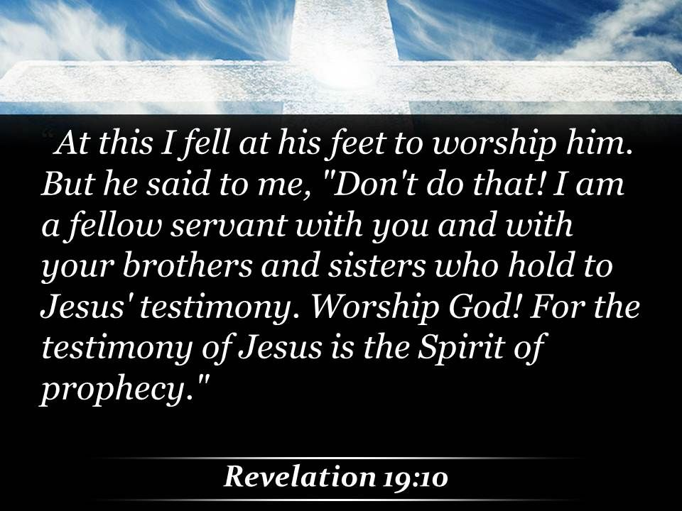 0514 Revelation 1910 I am a fellow servant PowerPoint Church Sermon