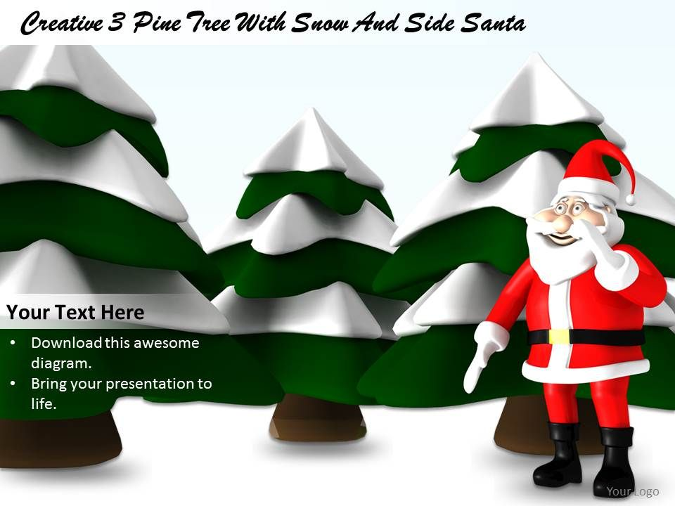 0514 santa with trees christmas theme image graphics for powerpoint