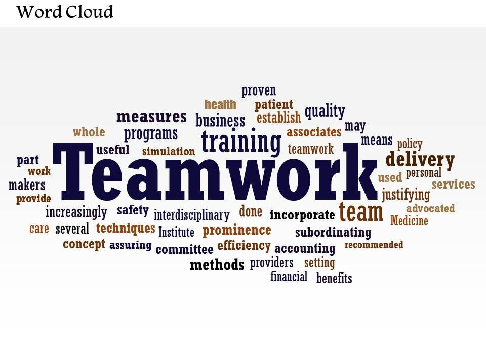 0514 Teamwork Word Cloud Powerpoint Slide Template | PowerPoint ...