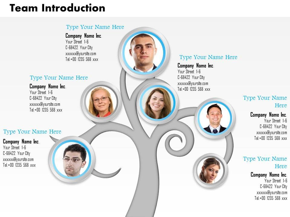 0514 Tree Structure For Team Introduction | PPT Images Gallery ...