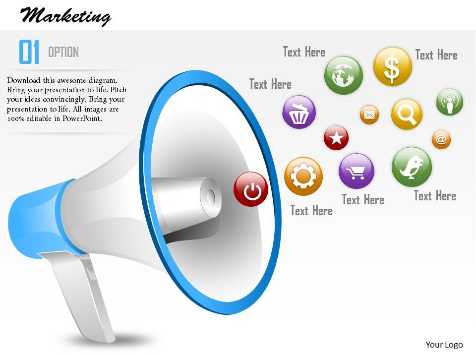 0614 business consulting diagram announcing a marketing campaign, Presentation templates