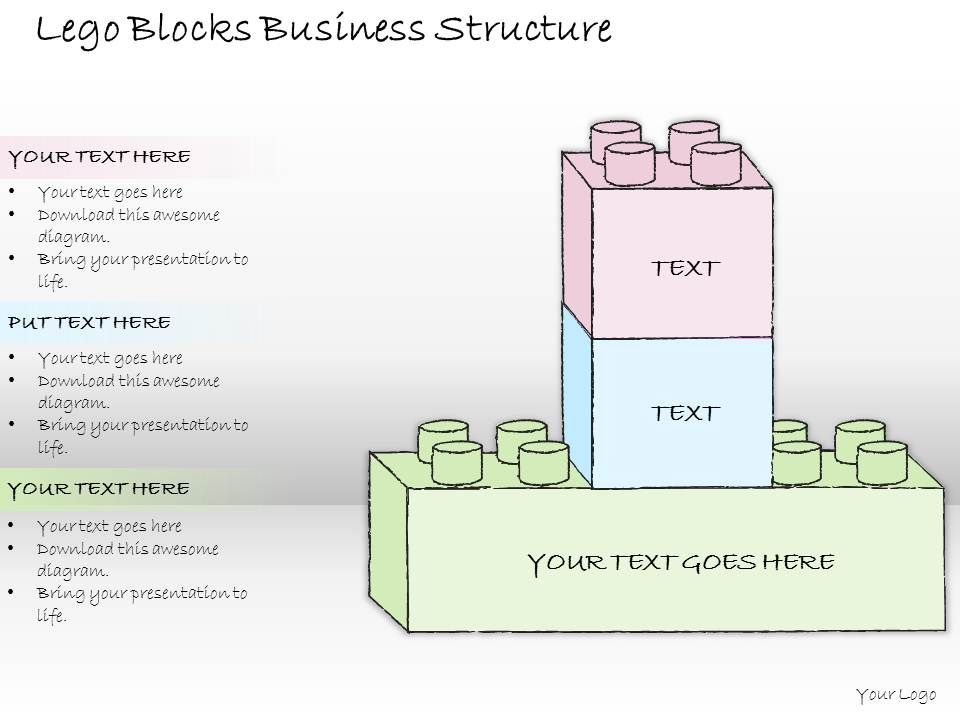 0614 business ppt diagram lego blocks business structure powerpoint