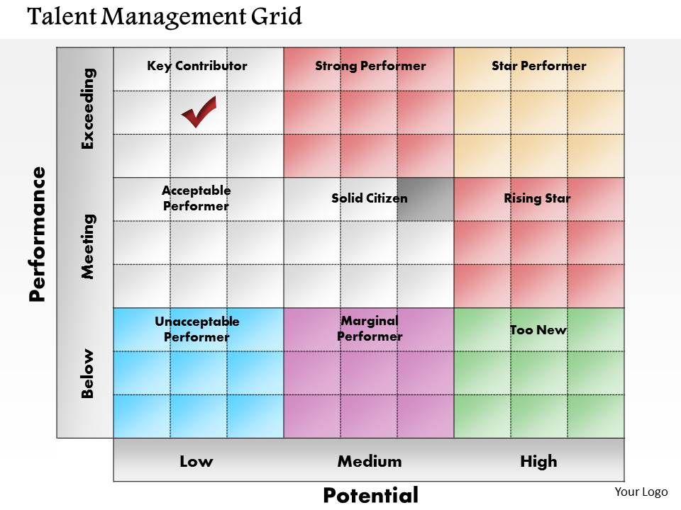 0614 Talent Management Grid Point Presentation Slide Template Slide01 Slide02