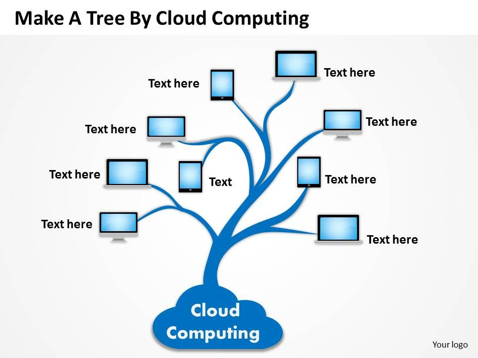 0620 Business Diagrams Examples Tree By Cloud Computing Powerpoint
