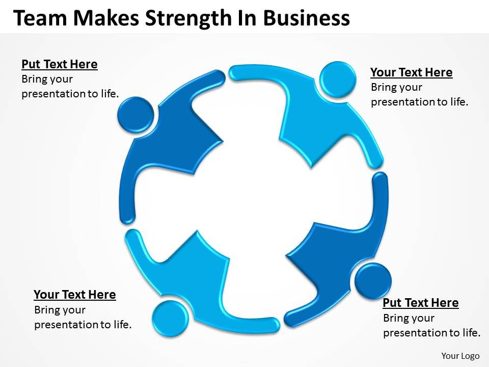 0620 Business Strategy Team Makes Strength Powerpoint Templates