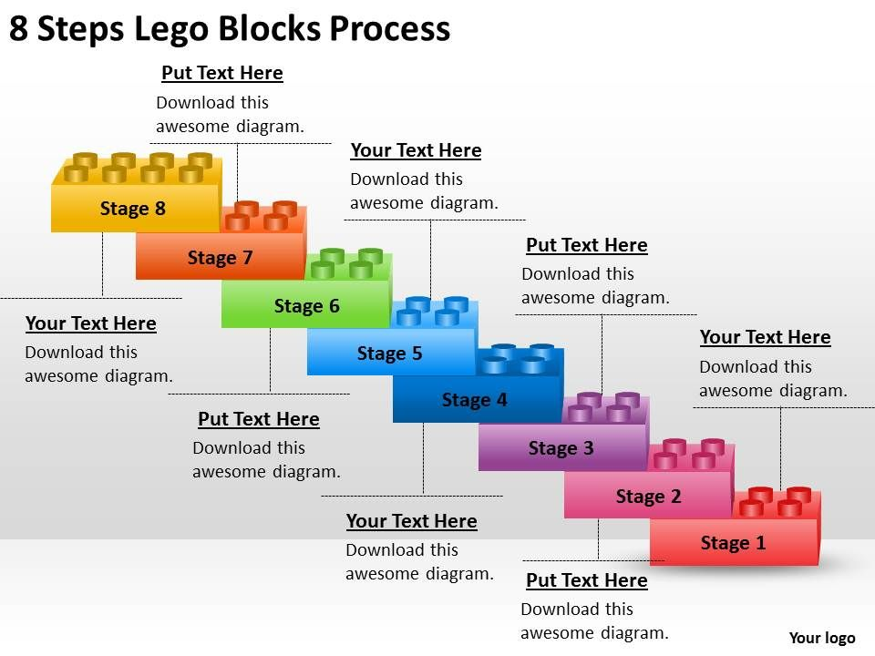 0620_management_consulting_8_steps_lego_blocks_process_powerpoint_slides_Slide01