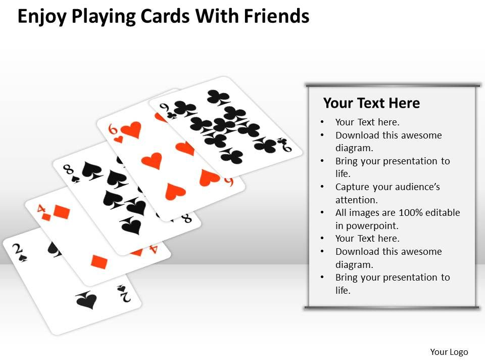 0620 Powerpoint Diagrams Download Cards With Friends Templates Ppt