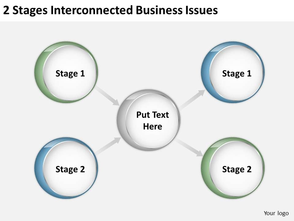 0620_strategic_plan_2_stages_interconnected_business_issues_powerpoint_templates_Slide01