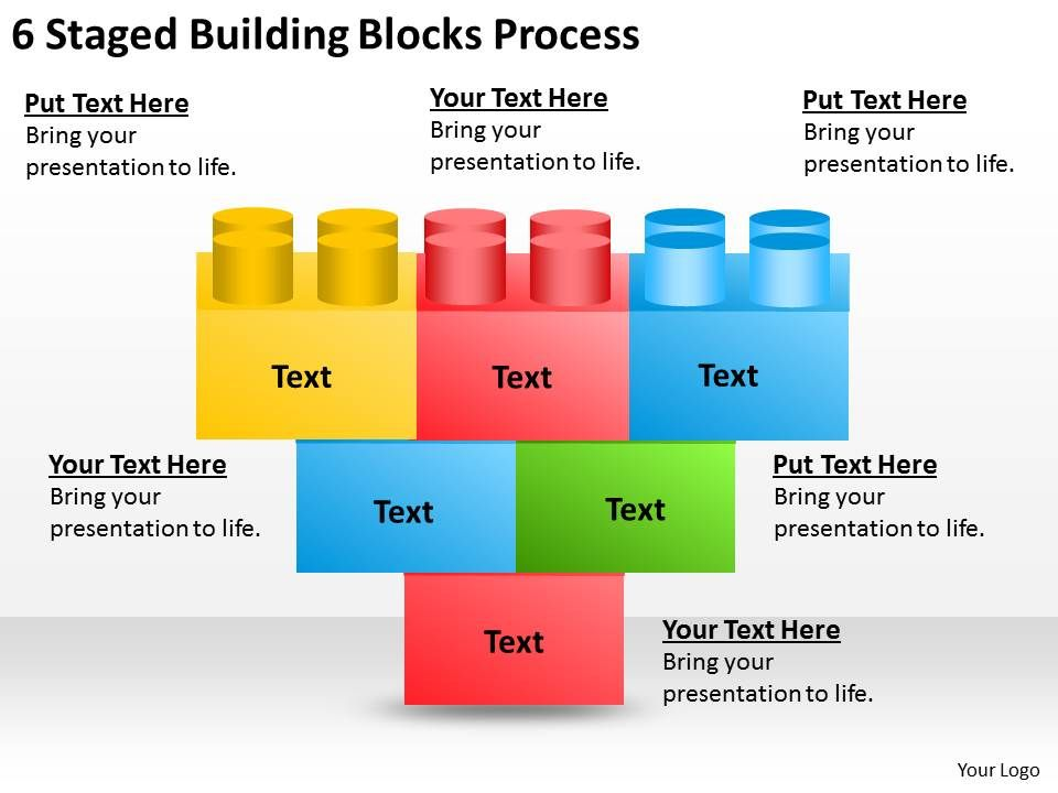 0620 strategic planning 6 staged building blocks process powerpoint