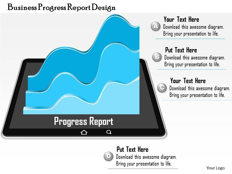 0714 business consulting business progress report design, Presentation templates