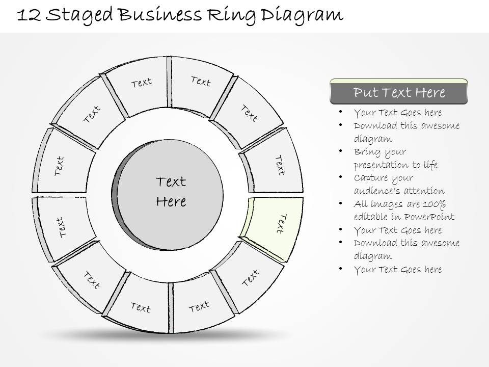 91724894 style division donut 12 piece powerpoint presentation diagram infographic slide