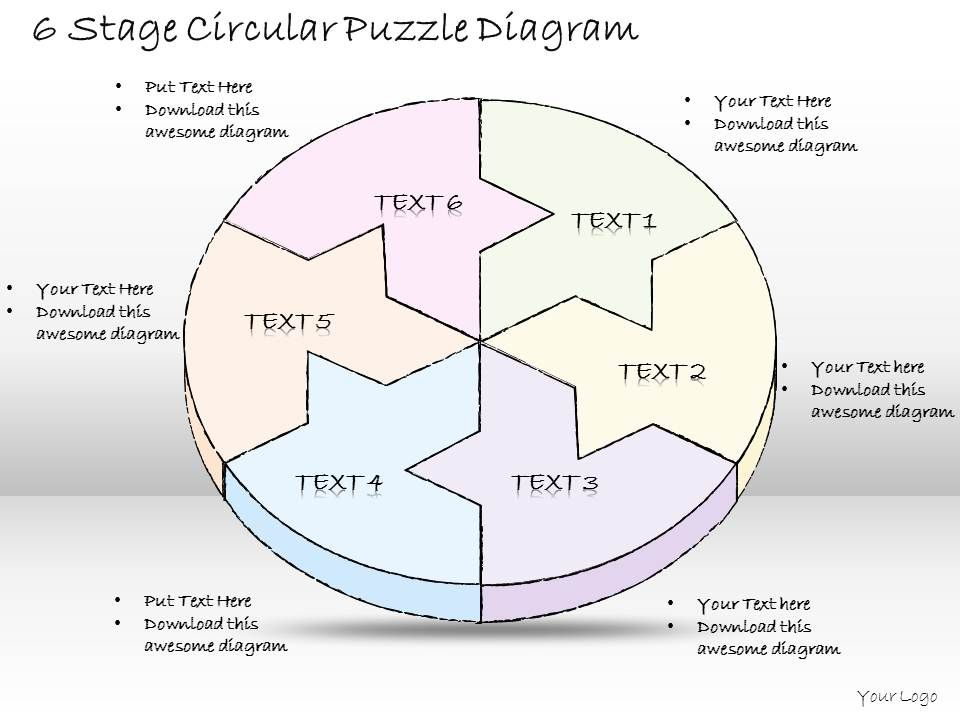 0714_business_ppt_diagram_6_stage_circular_puzzle_diagram_powerpoint_template_Slide01