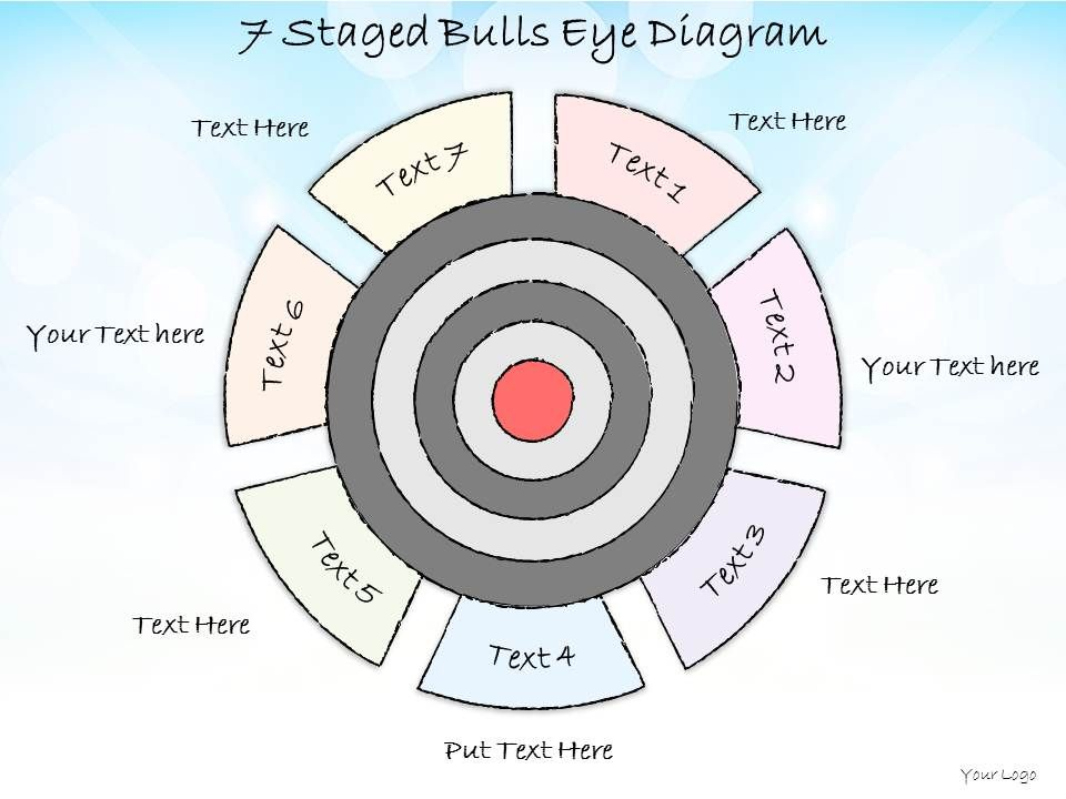 bullseye chart template 0714 business ppt diagram 7 staged bulls eye diagram