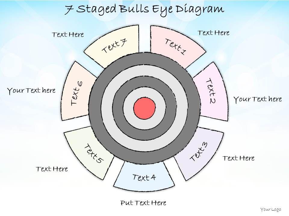 business ppt diagram  staged bulls eye diagram powerpoint        bulls eye diagram powerpoint template   business ppt diagram   staged bulls eye diagram powerpoint template slide