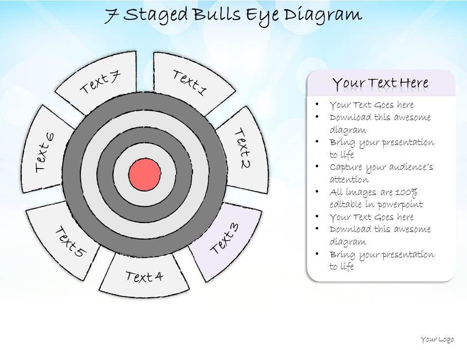 business ppt diagram  staged bulls eye diagram powerpoint       business ppt diagram   staged bulls eye diagram powerpoint template slide