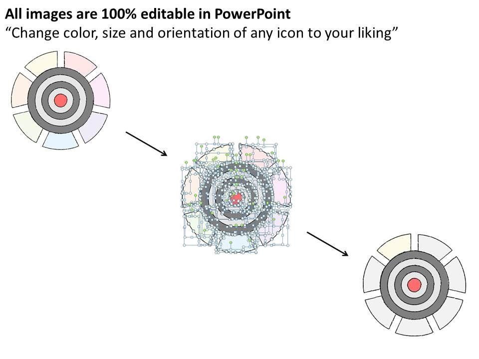 0714 business ppt diagram 7 staged bulls eye diagram