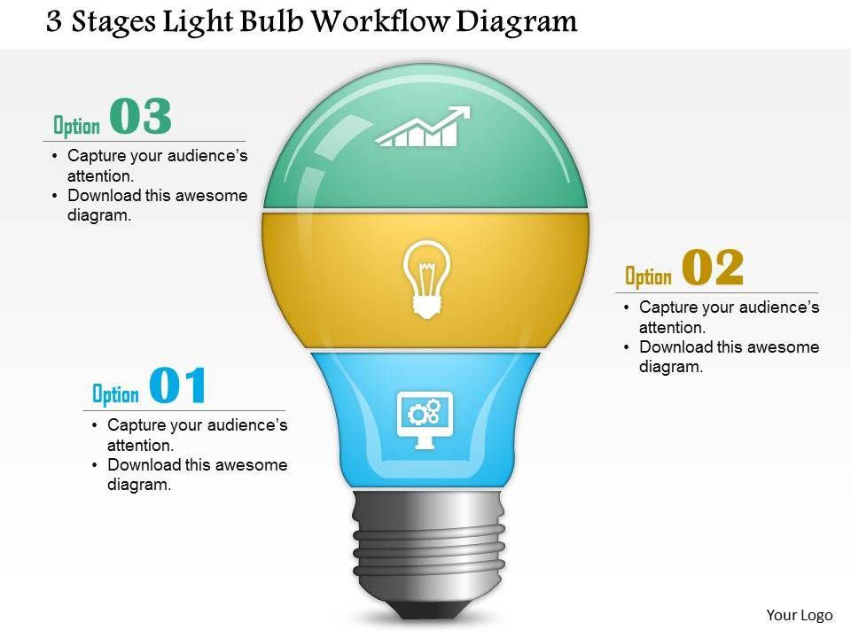 0814 business consulting 3 stages light bulb workflow diagram rh slideteam net PowerPoint Charts and Diagrams PowerPoint Transitions