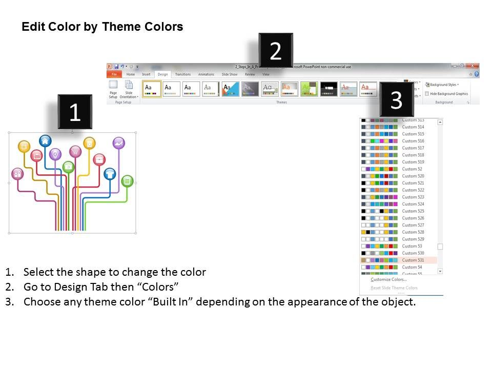 0814 Business Consulting Diagram Colorful Diagram Containing