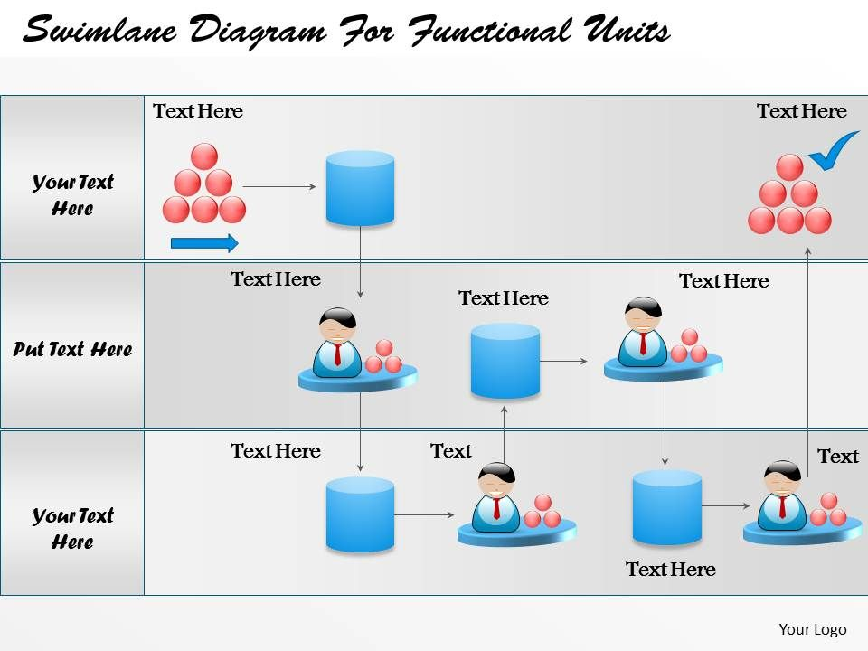 business consulting diagram swimlane diagram for functional, Powerpoint