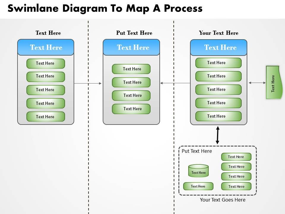 0814 business consulting diagram swimlane diagram to map a process, Modern powerpoint