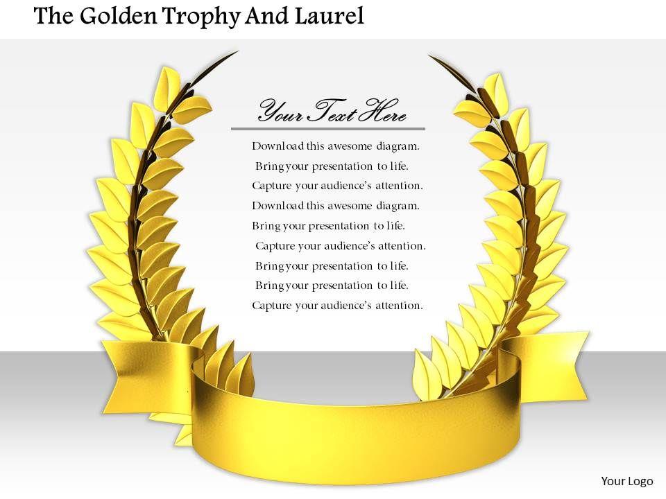 0814_design_of_golden_laurel_for_game_winners_image_graphics_for_powerpoint_Slide01