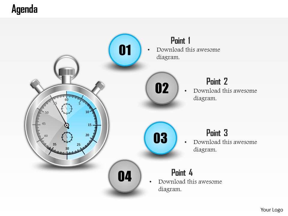 0814_four_staged_time_based_agenda_diagram_Slide01 0814 four staged time based agenda diagram powerpoint slide