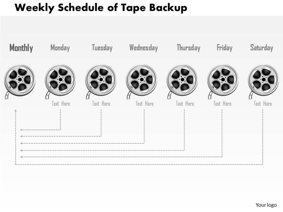 0814 weekly schedule of tape backup showing timeline of. Black Bedroom Furniture Sets. Home Design Ideas