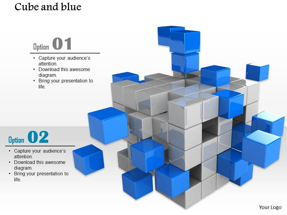 a650b8af 0914_block_of_grey_and_blue_cubes_falling_apart_image_slide_image_graphics_for_powerpoint_Slide01