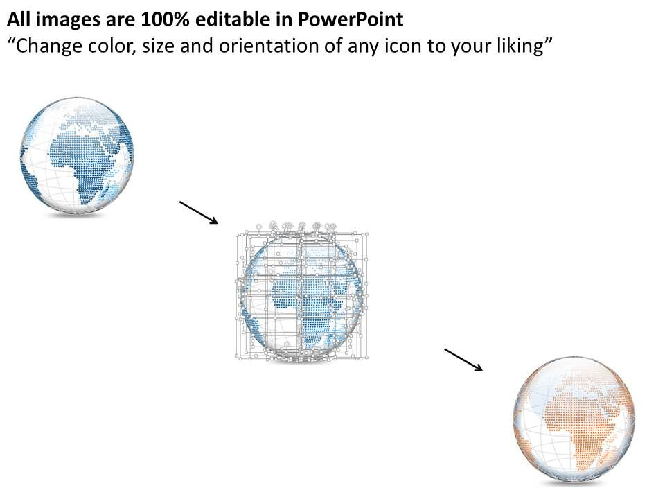 0914 business plan 3d small area specific globes vectors, Modern powerpoint