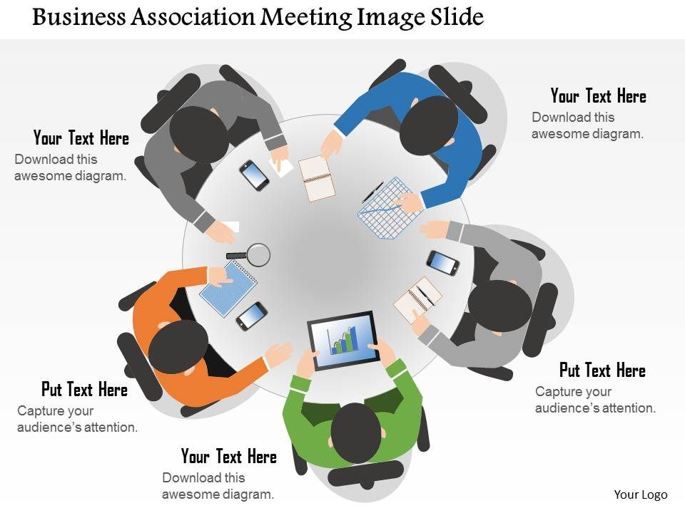 Business Plan Business Association Meeting Image Slide - Awesome example of business plan presentation powerpoint ideas