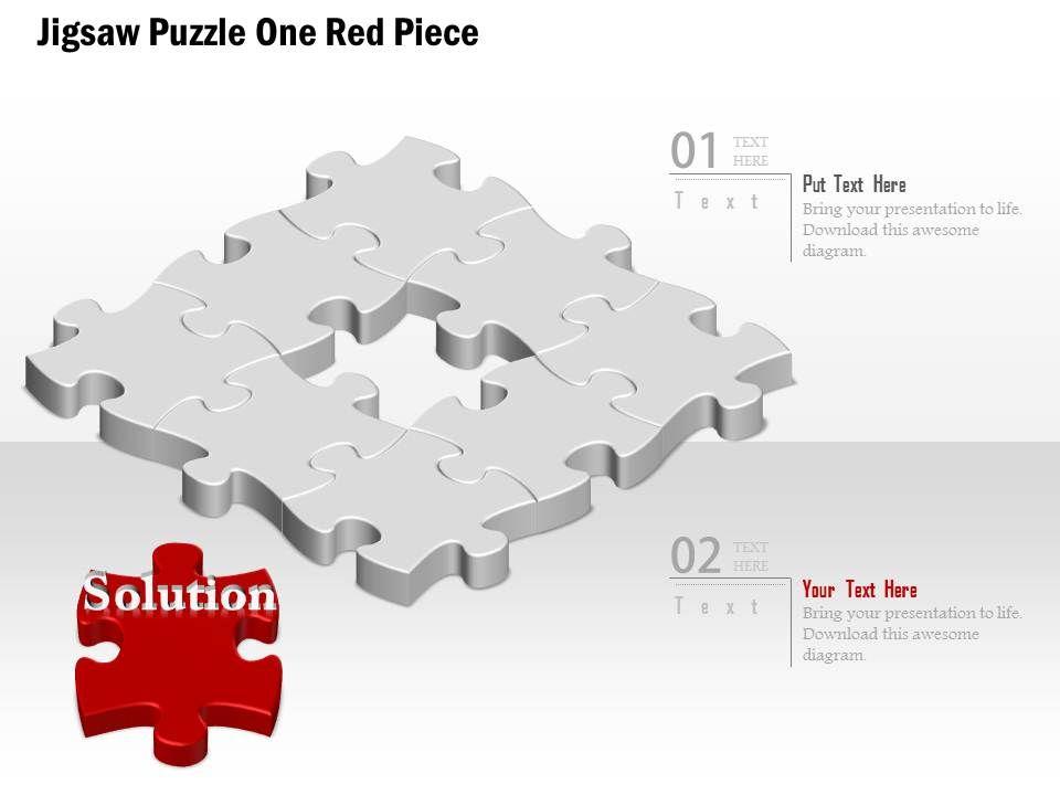 0914 business plan jigsaw puzzle one red piece image slide 0914businessplanjigsawpuzzleoneredpieceimageslidepowerpointtemplateslide01 toneelgroepblik Image collections