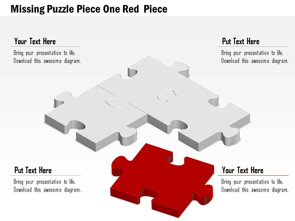 0914_business_plan_missing_puzzle_piece_one_red_piece_image_slide_powerpoint_template_Slide01
