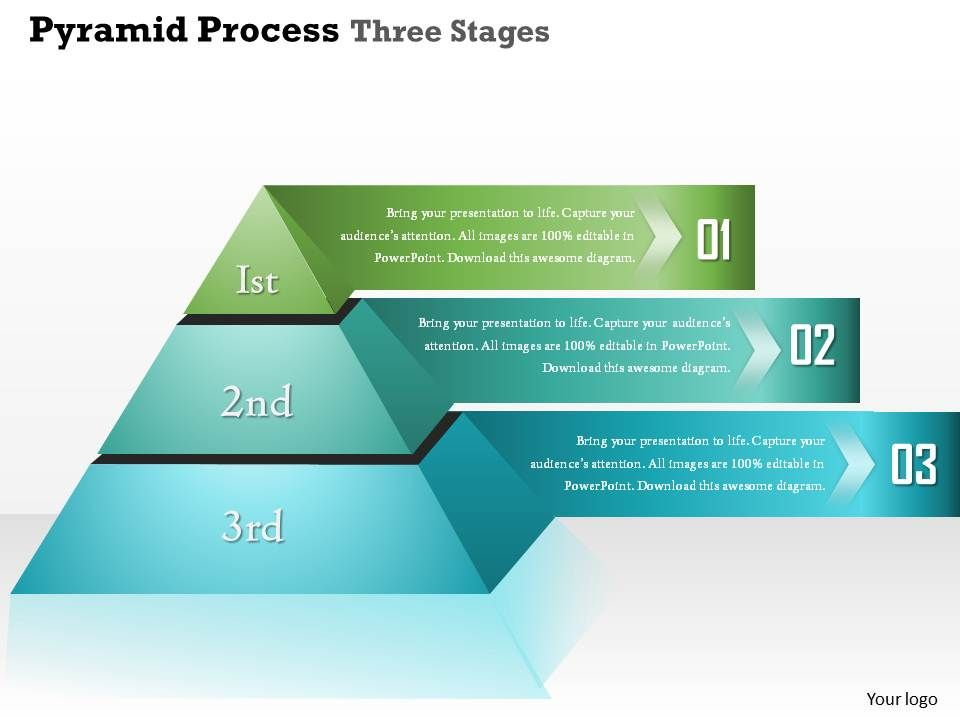 0914 business plan pyramid process three stages info graphic, Presentation Pyramid Template, Presentation templates