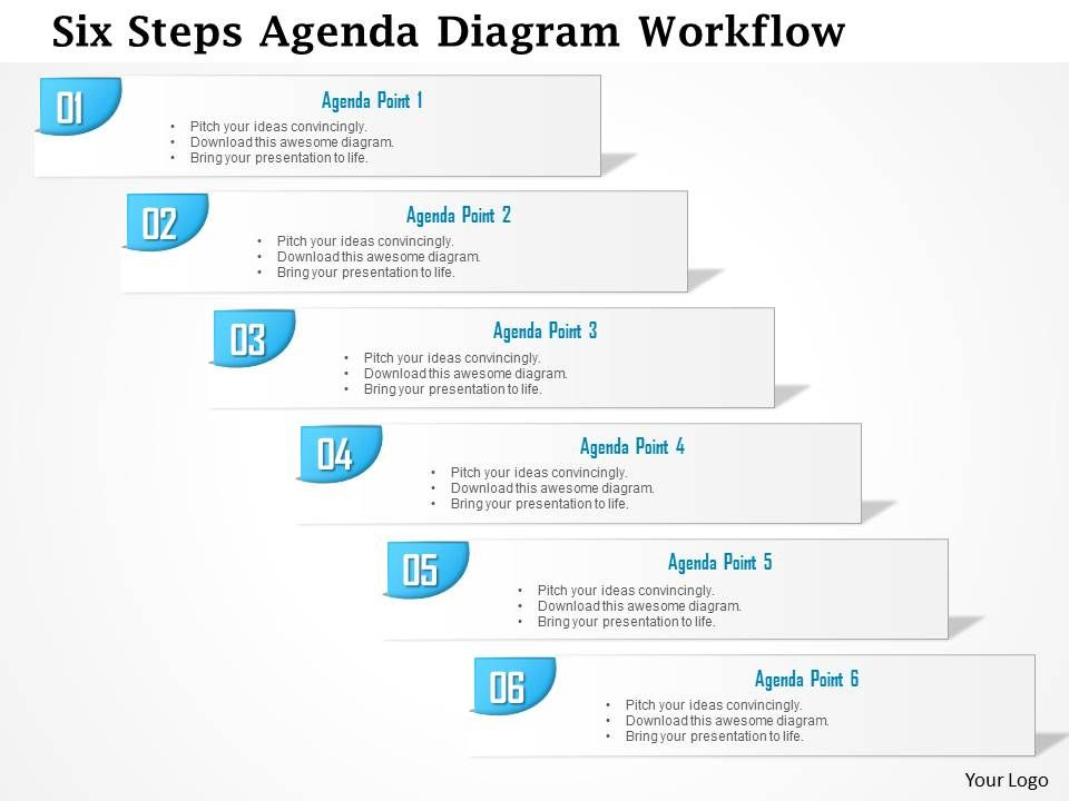0914 business plan six steps agenda diagram workflow powerpoint, Presentation templates