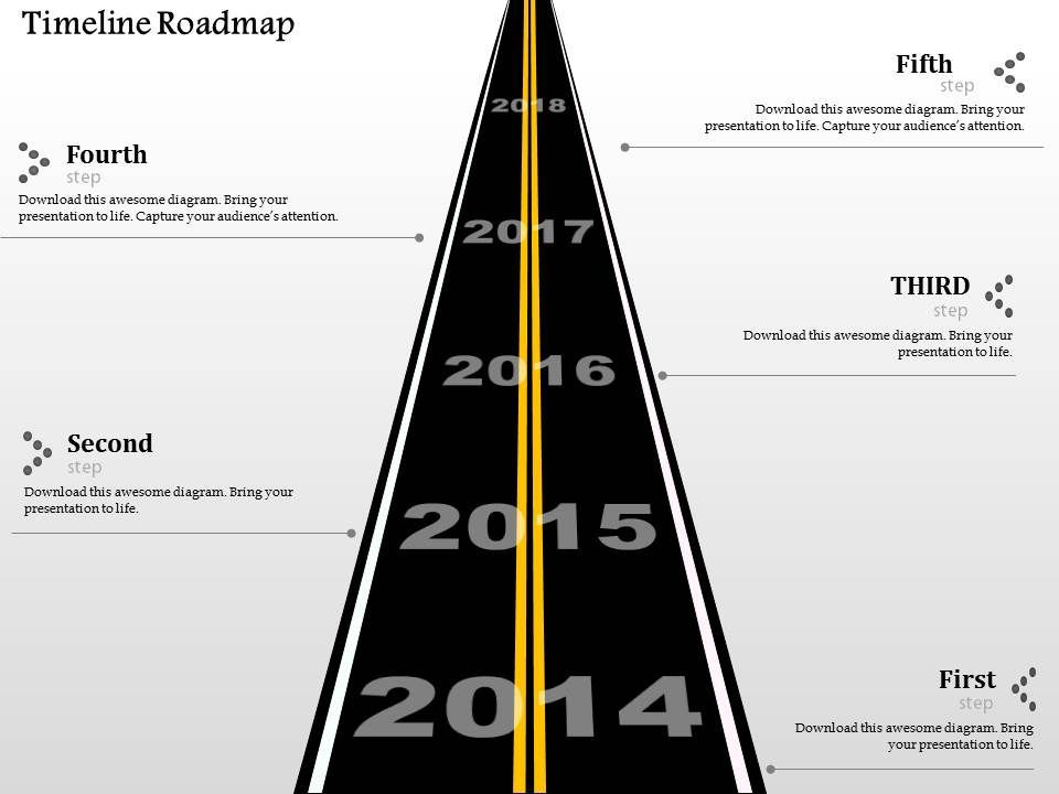 oh year based timeline roadmap analysis powerpoint template, Powerpoint templates