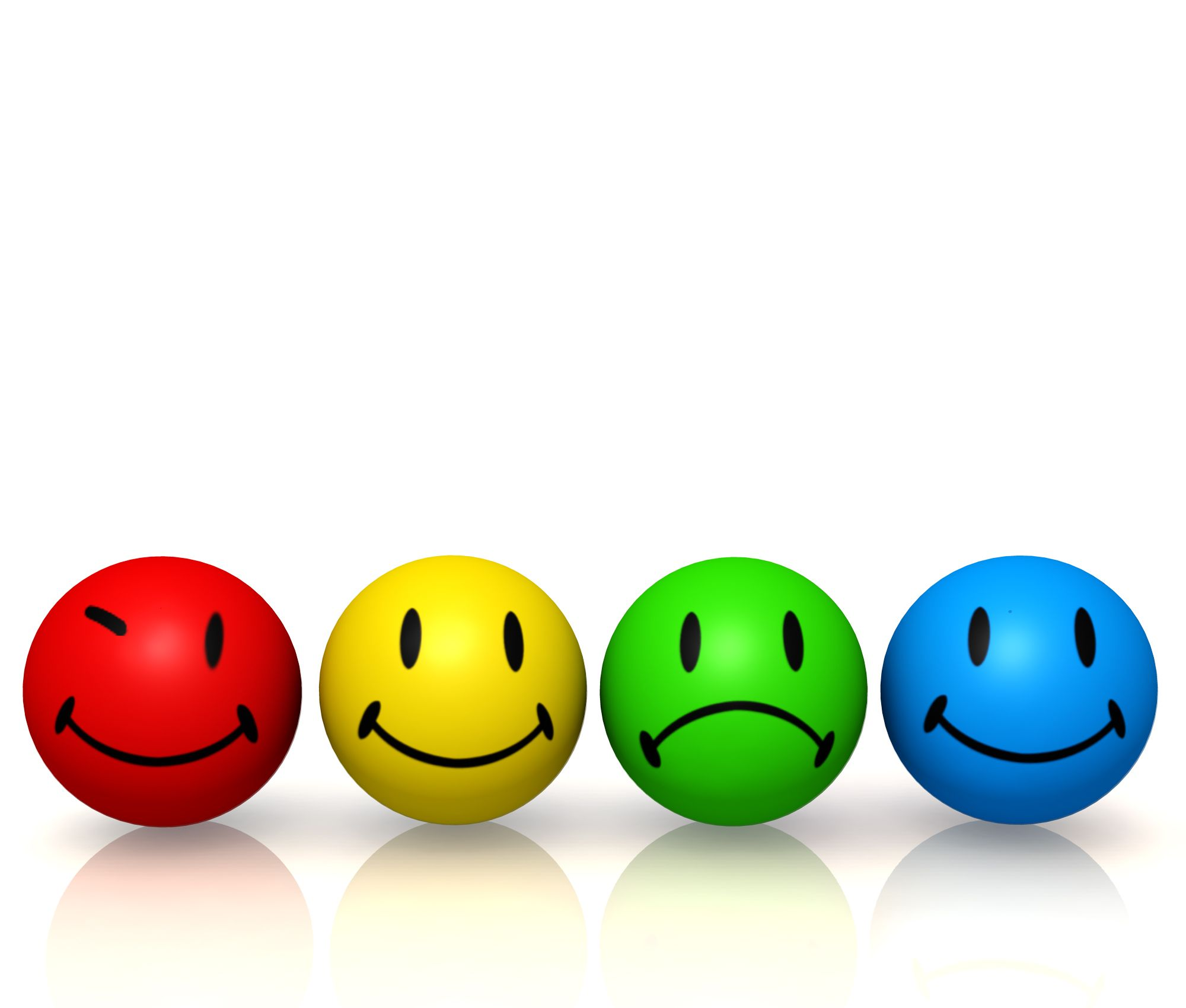 20 Emotion Colorful Smileys In Line Image Graphic Stock Photo ...