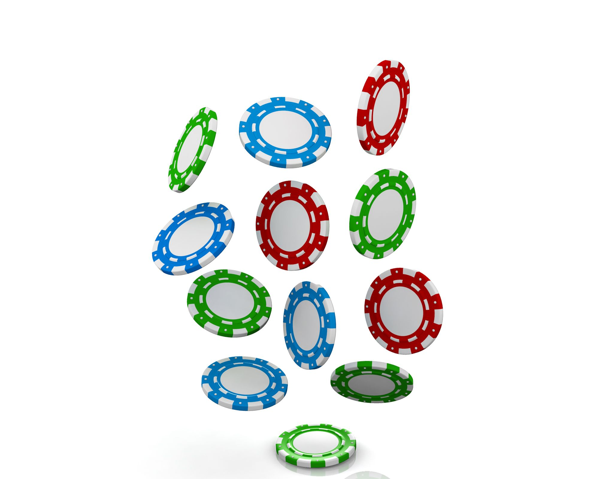 0914 Falling Red Blue And Green Poker Chips Money Graphic Stock
