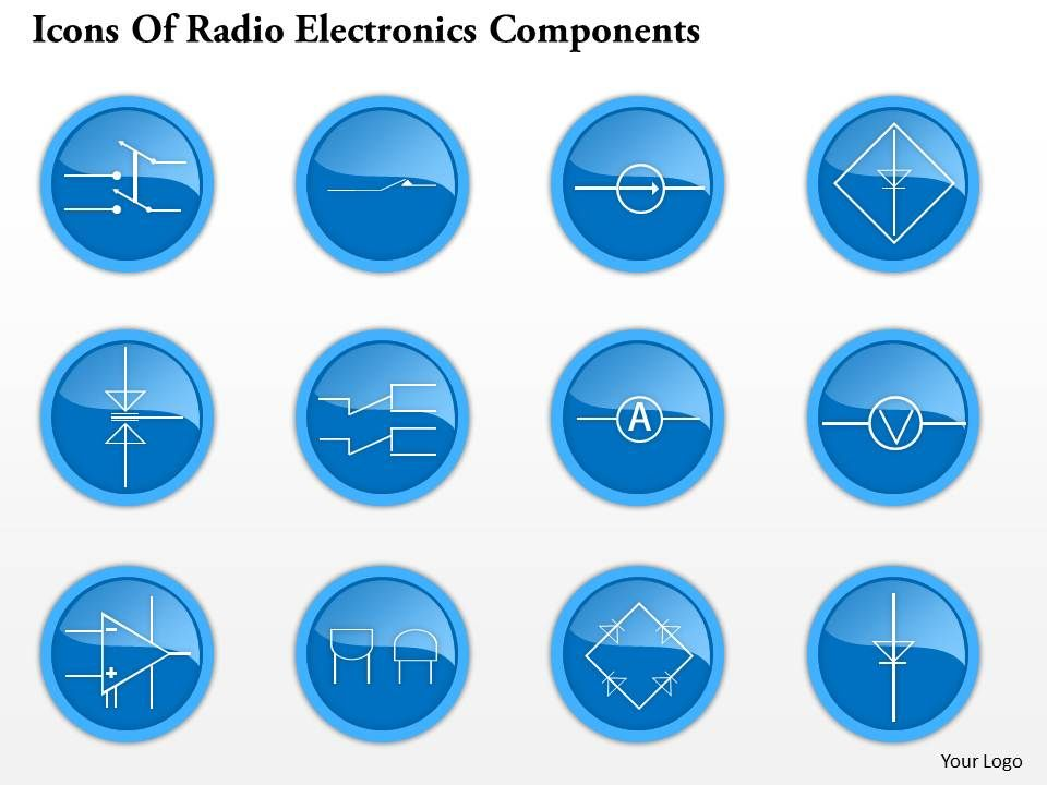 0914 Icons Of Radio Electronics Components 5 Ppt Slide