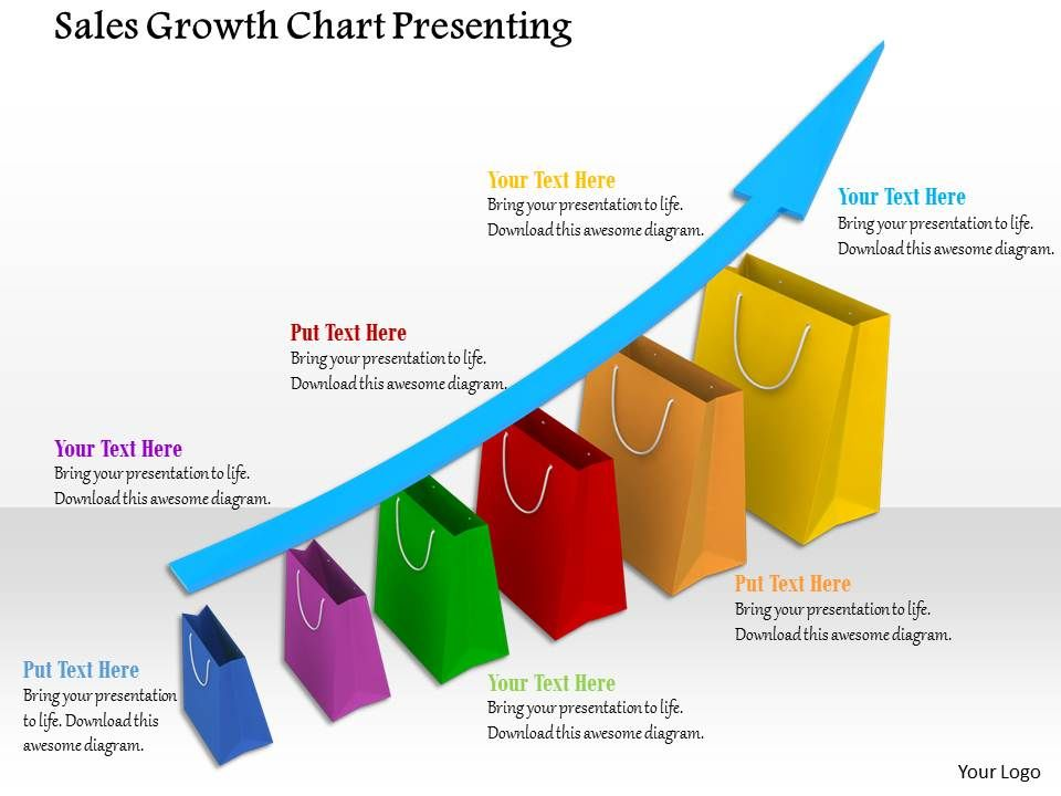 0914 sales growth chart presenting marketing strategy ppt for Sales marketing tactics