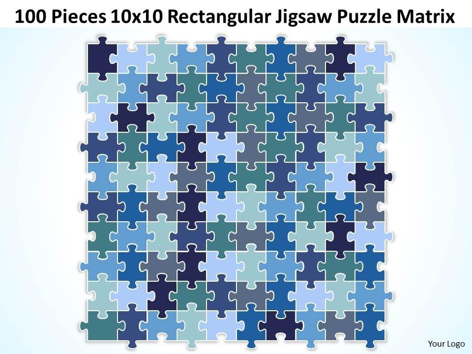 100 pieces 10x10 rectangular jigsaw puzzle matrix powerpoint 100pieces10x10rectangularjigsawpuzzlematrixpowerpointtemplates0812slide01 toneelgroepblik Image collections