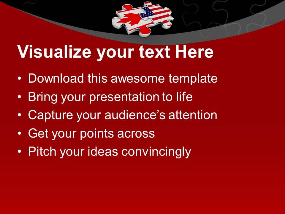 1013 2 interconnected puzzle pieces america flag powerpoint