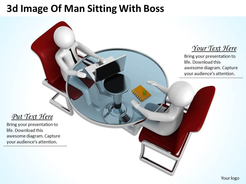 1013_3d_image_of_man_sitting_with_boss_ppt_graphics_icons_powerpoint_Slide01