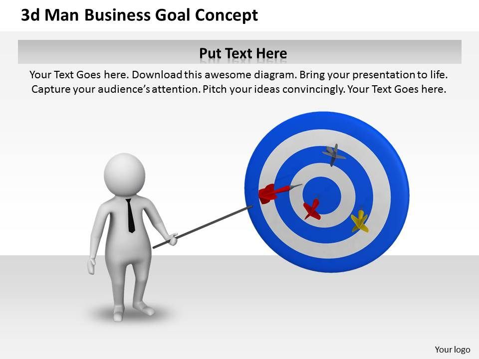 1013_3d_man_business_goal_concept_ppt_graphics_icons_powerpoint_Slide01