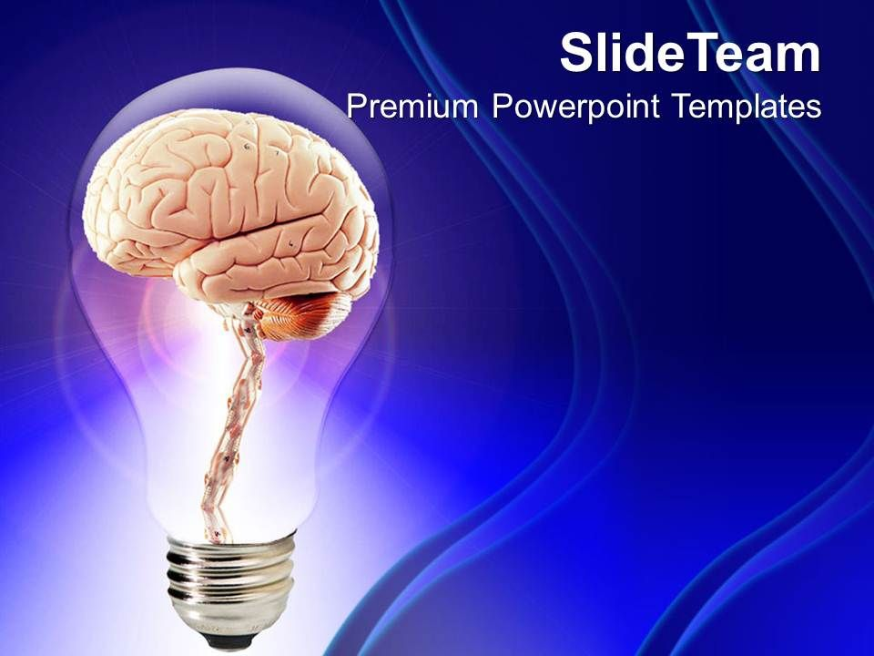 Brain Inside Bulb Creative Powerpoint Templates Ppt Themes