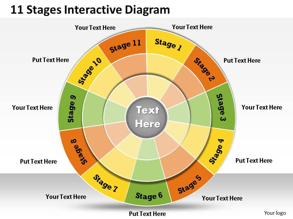 1013 busines ppt diagram 11 stages interactive diagram powerpoint