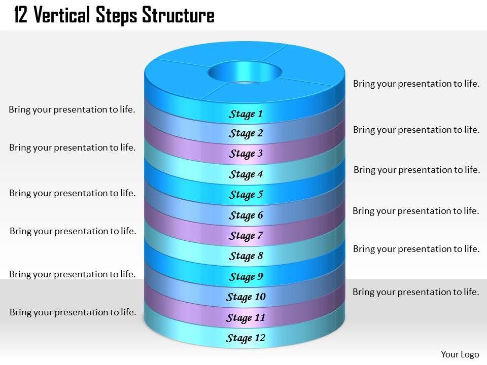 1013_busines_ppt_diagram_12_vertical_steps_structure_powerpoint_template_Slide01