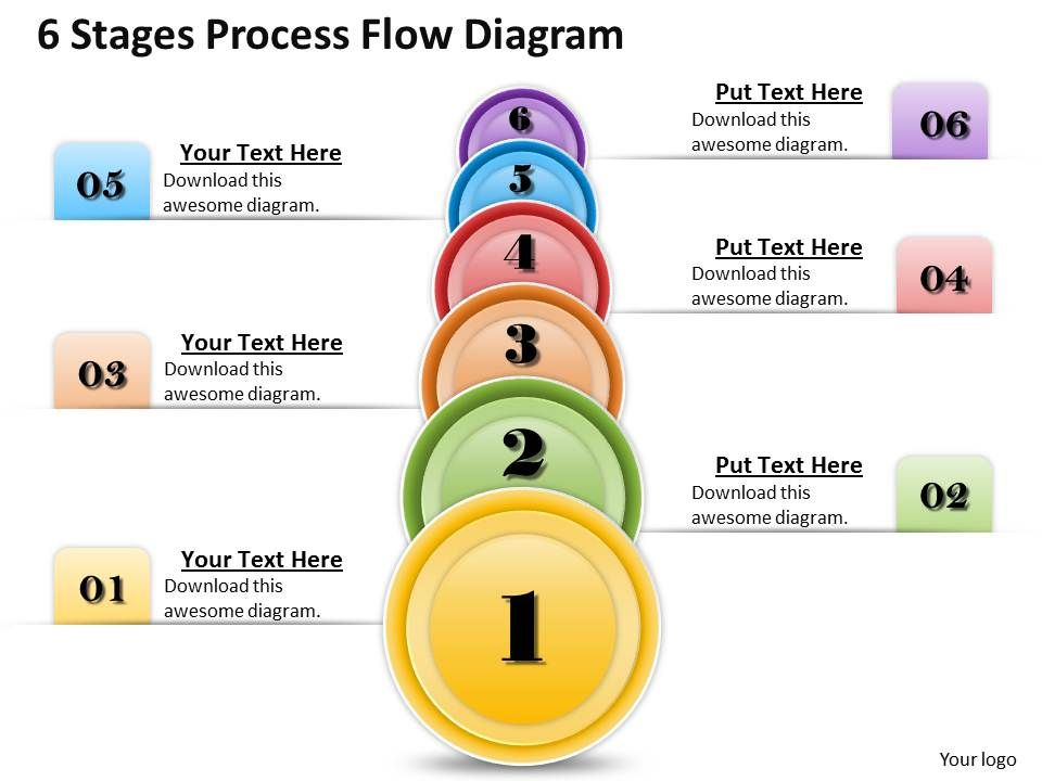 1013 Busines Ppt Diagram 6 Stages Process Flow Diagram Powerpoint
