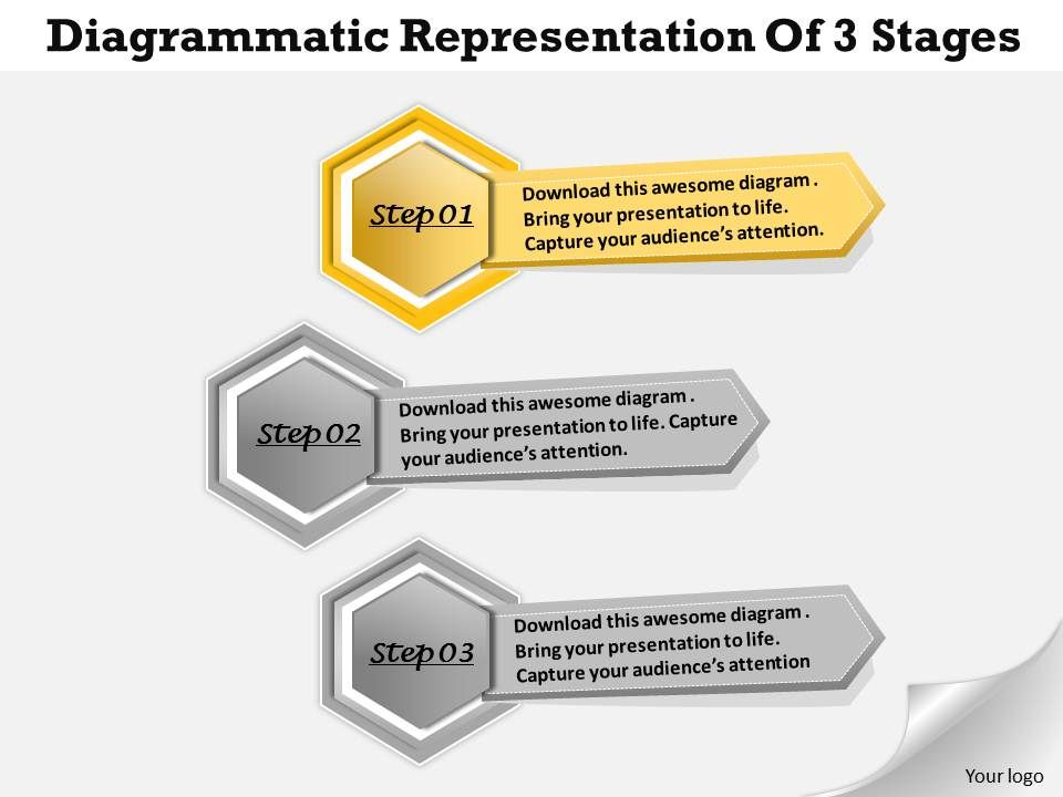 1013_busines_ppt_diagram_diagrammatic_representation_of_3_stages_powerpoint_template_Slide02